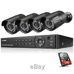 Floureon Cctv 8ch 1080n Ahd Dvr Enregistreur 4x 1080p Caméra De Sécurité Kit + 1 To Hdd