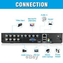Floureon Cctv 8ch 5 In 1 Dvr Enregistreur 8x 3000tvl Extérieur Système De Caméra De Sécurité