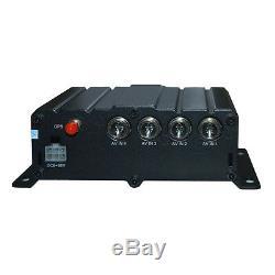 Gps Audio De Système Enregistreur De Véhicule De La Caméra Dvr De Voiture De Carte D'écart-type 720p Cctv 4ch
