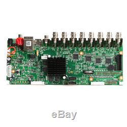 H. 265 Cctv 16ch 5mp XVI / Ahd / CVI / Tvi / Ip Réseau Hybride Enregistreur Vidéo Dvr Board