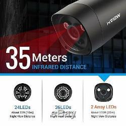H. Voir Caméra Cctv 4ch 4.0mp Système Max Jusqu'à 5.0mp 5 En 1 Recorder Dvr Avec 2 To