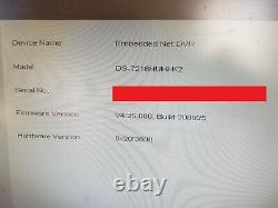 Hik Vision Ds-7216huhi-k2 16 Channel Dvr Cctv Recorder 6 Mois Gui4