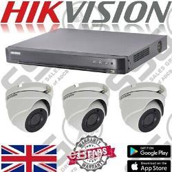 Hikvision 16 Canaux Hd 5mp Cctv Extérieur Caméra Dôme Dvr Sécurité Kit Enregistreur