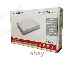 Hikvision 2mp 4ch Turbo Hd Dvr Ds-7104hqhi-k1 Avec Disque Dur 2 To Record 1080p H. 265