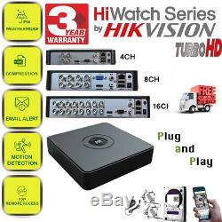 Hikvision 4/8/16 Dvr Hd Turbo Enregistreur Vidéo Cctv 4/8/16 Canaux Hdmi 1080p