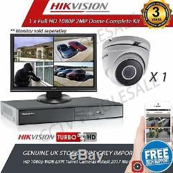 Hikvision 4ch Magnétoscope Numérique Hd 1 Hd Caméras De Tvi Système De Caméra Cctv 1tb Hdd