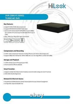 Hikvision 5mp 8mp Dvr 4k Uhd 4ch 8ch 16ch Cctv Security Recorder Full Hd Hdmi Royaume-uni
