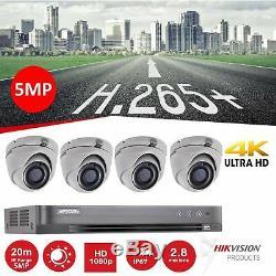 Hikvision 5mp Cctv Système Hd Kit De Sécurité 1080p 4 Caméras Enregistreur Dvr 1 To R 2 To