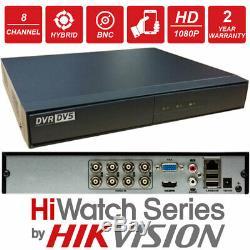 Hikvision 8 Canaux Hybride Hdtvi Ahd Cvbs Dvr Enregistreur 8ch Cctv Home Office Tvi