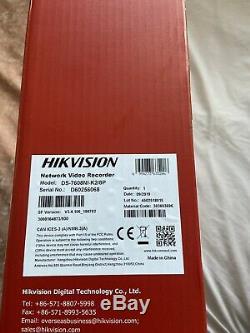 Hikvision 8 Canaux Ultra Hd 4k Uhd Réseau Nvr 8mp 8 Poe 8ch Cctv Recorder Nouveau
