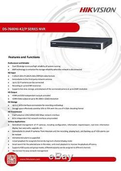 Hikvision 8mp Ip Poe 4k Nvr Enregistreur De Sécurité Cctv Canal 16ch Ds-7616ni-k2 / 16p
