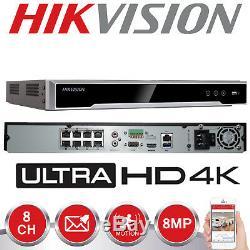 Hikvision 8mp Ip Poe 4k Nvr Enregistreur De Sécurité Cctv Chaîne 8ch Ds-7608ni-k2 / 8p