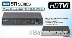 Hikvision Cctv Dvr 8ch Système 1080p / 720p Enregistrement Hd-tvi / Compatible Caméra Analogique