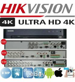 Hikvision Cctv Dvr Ds-7204huhi-k1, Ds-8huhi-k1 Ds-16huhi-ultra Hd 4k K2 Upto 8mp