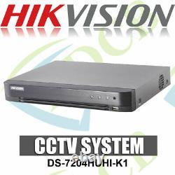 Hikvision Ds-7204huhi-k1 4 Canaux Enregistreur De Vidéosurveillance