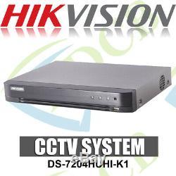 Hikvision Ds-7204huhi-k1 5mp 4 Canaux Dvr & Poc Tvi Nvr Tribrid Cctv Recorder