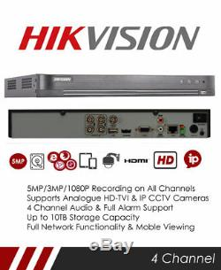 Hikvision Ds-7204huhi-k1 / P Enregistreur Cctv Tribrid Tvi Poc 4 Canaux Tvi Pro Et Nvr