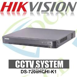 Hikvision Ds-7208hqhi-k1 8 Canaux Tvi, Dvr Et Nvr Tribrid Cctv Recorder