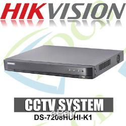 Hikvision Ds-7208huhi-k1 8 Canaux Cctv Enregistreur Hd Turbo Tvi 4.0 8ch Dvr 8mp