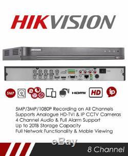 Hikvision Ds-7208huhi-k2 Enregistreur Cctv Tribrid Tvi, Dvr Et Nvr À 5 Canaux