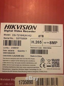 Hikvision Ds-7216huhi-k2 8mp 16 Canaux Tvi, Dvr Et Nvr Tribrid Cctv Enregistreur 8tb