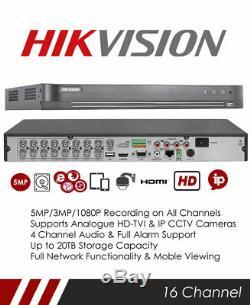 Hikvision Ds-7216huhi-k2 Enregistreur Cctv Tribrid Tvi, Dvr Et Nvr 16 Canaux
