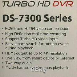 Hikvision Ds-7316hqhi-k4 Turbo Hd Dvr Caméra Cctv Recorder 1080p 4tb 16ch Nouveau