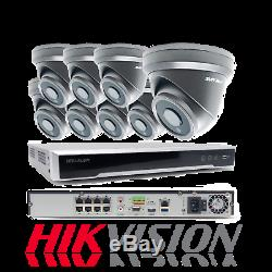 Hikvision Ds-7608ni-k2 / 8p Cctv Nvr + Svr-tech 5mp Poe Tourelle Kit Caméra Ip