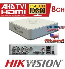 Hikvision Ds-8ch 7108hghi-f1 / N 1 To H. 264 / H. 264 + Ahd-tvi Dvr Video Recorder