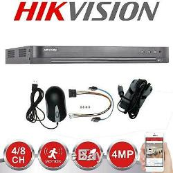 Hikvision Dvr 4/8 / 16ch Turbo Hd 1080p Hdmi 4mp Vga Cctv Enregistreur Vidéo Utp Bnc