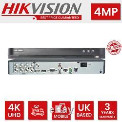 Hikvision Dvr 8ch 4mp Complet 8 X Canal Cctv Système De Sécurité Enregistreur Turbo 4k Uhd