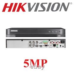 Hikvision Dvr Cctv Security 5mp 4ch Turbo Hd Enregistreur Vidéo Numérique Tvi