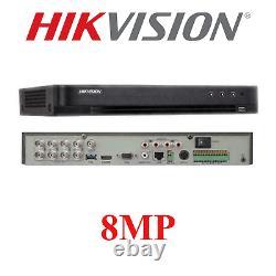 Hikvision Dvr Cctv Security 8mp 8ch Turbo Hd Enregistreur Vidéo Numérique Tvi
