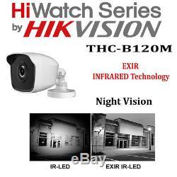Hikvision Enregistreur De Sécurité Cctv Dvr 4ch Hiwatch 8ch Extérieur Kit Système De Caméra
