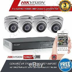 Hikvision Enregistreur Dvr 4 Caméras Hd Hd 1080p Tvi Kit De Système De Vidéosurveillance Full Hd
