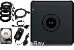 Hikvision Hd Cctv System 1080p 8ch Kit Appareil Photo Enregistreur De Sécurité Dome Blanc Gris