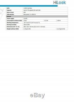 Hikvision Hilook Dvr 8ch 16ch 24ch 32ch Cctv Full Hd 1080p Canal Ahd Tvi CVI