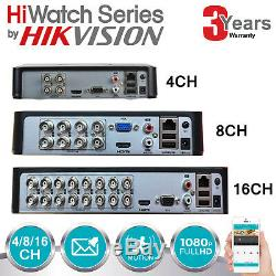 Hikvision Hiwatch Dvr 4ch 8ch 16ch Hd Caméra Cctv Enregistreur Ahd Tvi Turbo Hdmi Uk