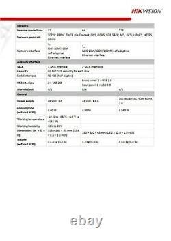 Hikvision Ids-7208huhi-k1/4s Acusense Turbo 8ch 4k 8mp Dvr Enregistreur Vidéosurveillance Onvif