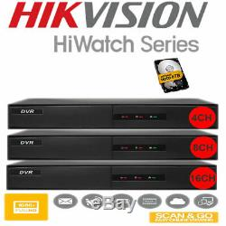 Hiwatch Cctv Dvr De Hikvision Enregistreur 4 8 16 Canaux Hdtvi CVI Ahd Hdmi Fournisseur Uk
