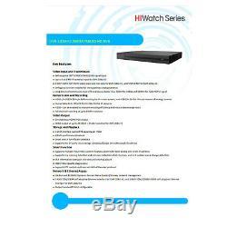 Hiwatch Hikvision Dvr 8ch 8mp Pleine 4k Dvr-208u-k1 H. 265 Hdtvi Video Recorder Dvr