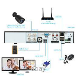 Kkmoon 4ch 1080p Ahd Dvr Video Recorder 41080p Caméra Cctv 2mp 1tb Hdd Kit M2w3