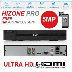 La Pleine 8mp 5mp 4k 4ch 8ch Hizone Pro Enregistreur Vidéo Numérique P2p Dvr Hdmi Royaume-uni Hd-tvi