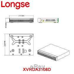Longse 8mp 4k Uhd 4ch Dvr 8ch Xvr Cctv Enregistreur De Détection Des Visages Et Comparaison