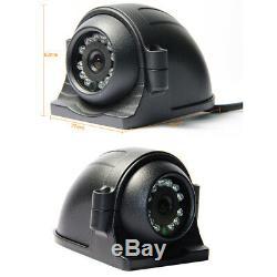 Moniteur 7 De Caméra De Vidéosurveillance D'enregistrement De Vue Arrière De 720p Ahd 4ch Sd 256g Gps Dvr De Véhicule De Voiture