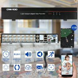 Owsoo 16ch Canal Cif Complet Enregistreur Vidéo Cctv Cloud Dvr 1tb W2u7