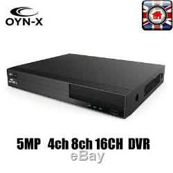Oyn-x Falcon 4 8 16 Canaux 5mp Hd 1080p Tvi CVI Ahd 960h Cctv Dvr Enregistreur Box