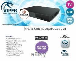 Oyn-x Viper 16 Channel 4-in-1 1080p Tvi / Ahd / CVI / 960h Dvr Cctv Enregistreur