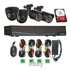 Philex Cctv Kit Ir Hd Enregistreur 1 To Dvr Intérieur Extérieur Extérieur Ip66 4 X Caméras De Sécurité