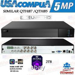 Q-see 8ch 2tb Qth87-2 8ch Tvt-4k Uhd (generique) (ahd-tvi-cvi-cvbs) Jusqu'a 16t